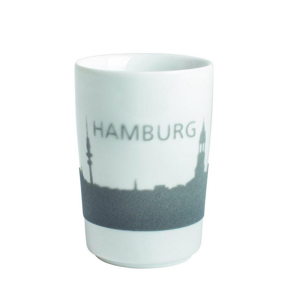 Kahla Maxi-Becher Skyline Hamburg »Five Senses Touch« in Grau