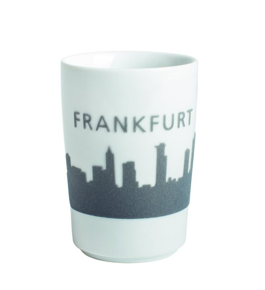Kahla Maxi-Becher Skyline Frankfurt »Five Senses Touch« in Grau