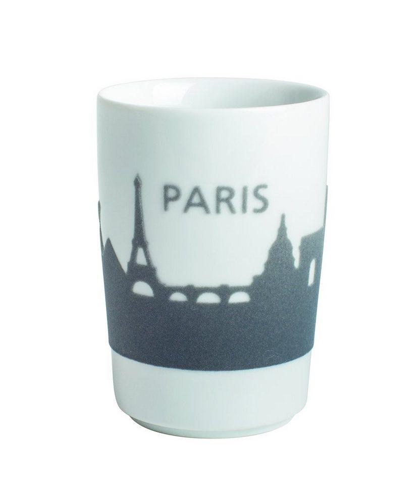 Kahla Maxi-Becher Skyline Paris »Five Senses Touch« in Grau