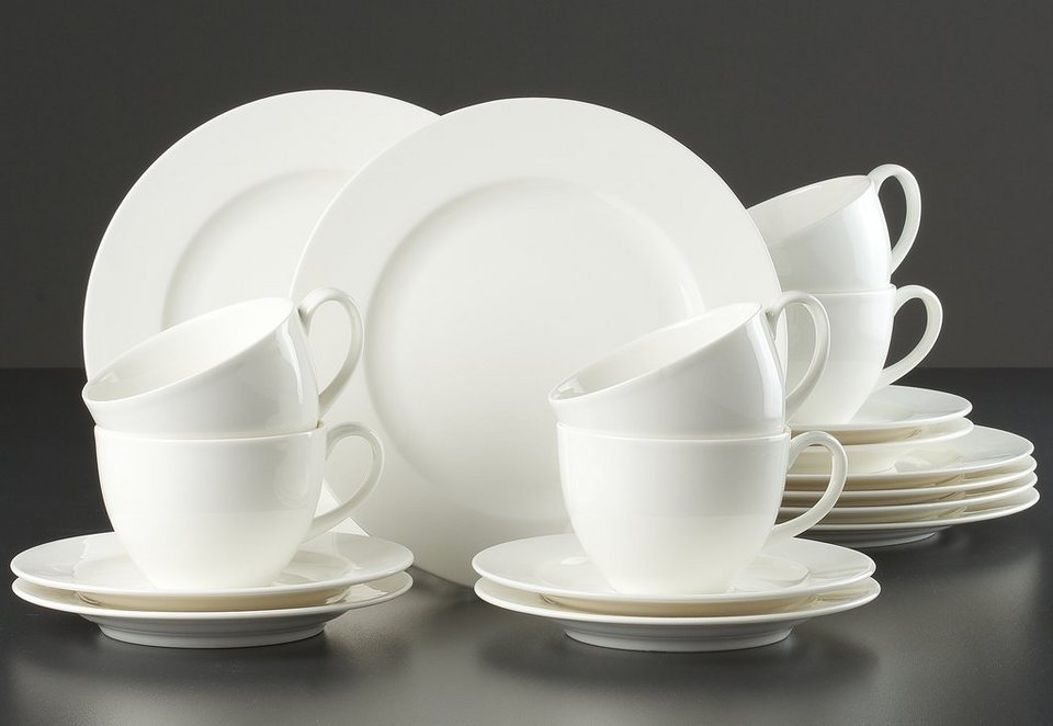 Porzellanserie in weiß