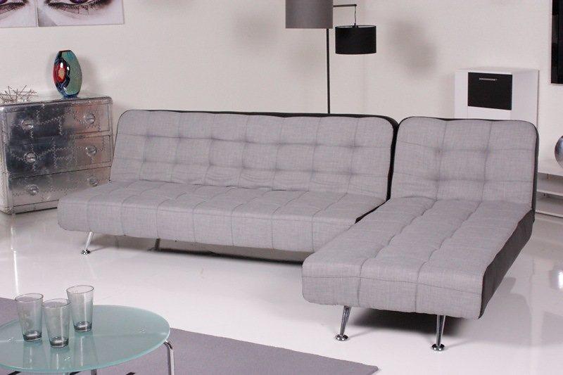 kasper wohndesign relax ecksofa marlene bettsofa stoff kunstleder hellgrau schwarz kawola. Black Bedroom Furniture Sets. Home Design Ideas