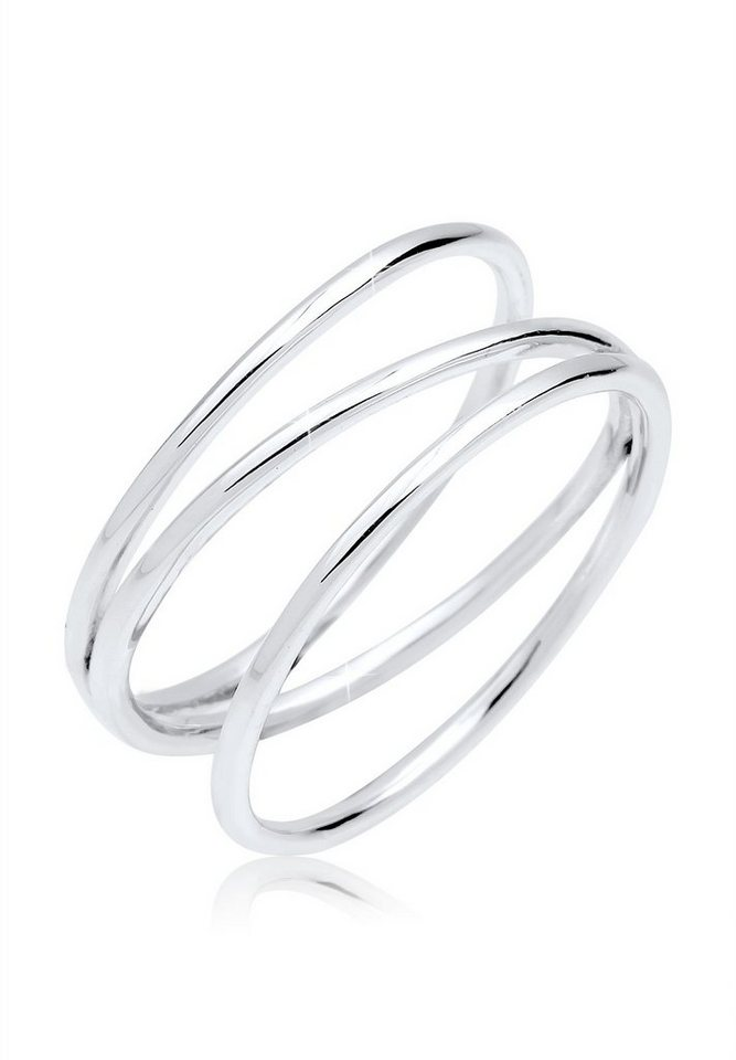 Elli Ring »Blogger Wickelring 925 Silber« in Silber