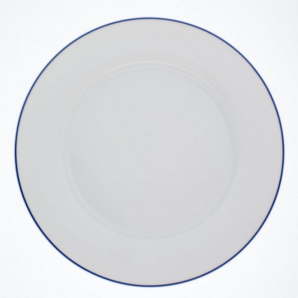 Kahla Speiseteller »Aronda Blaue Linie« in Weiß