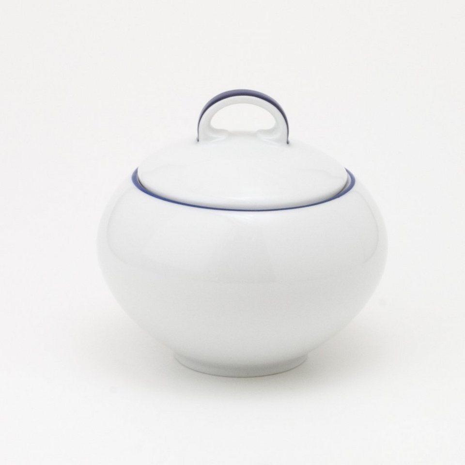 Kahla Zuckerdose »Aronda Blaue Linie« in Weiß