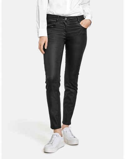 Taifun Stretch-Jeans »Beschichtete Hose Super Skinny TS« (1-tlg) 5-Pocket