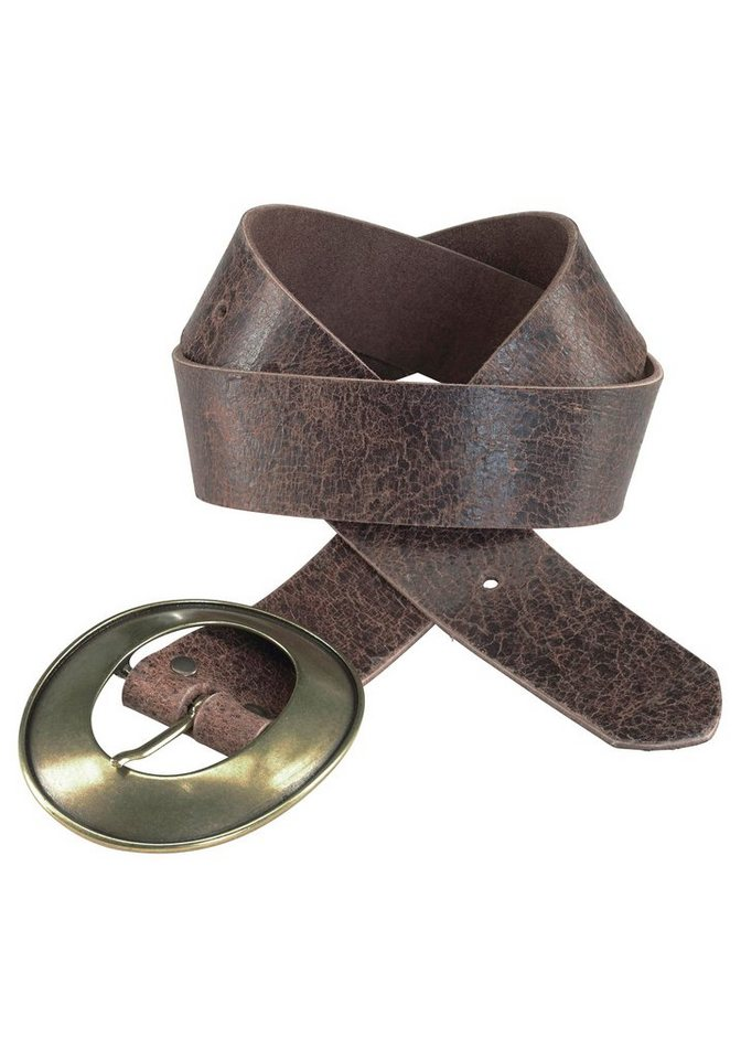J. Jayz Ledergürtel mit ovaler Schließe in braun