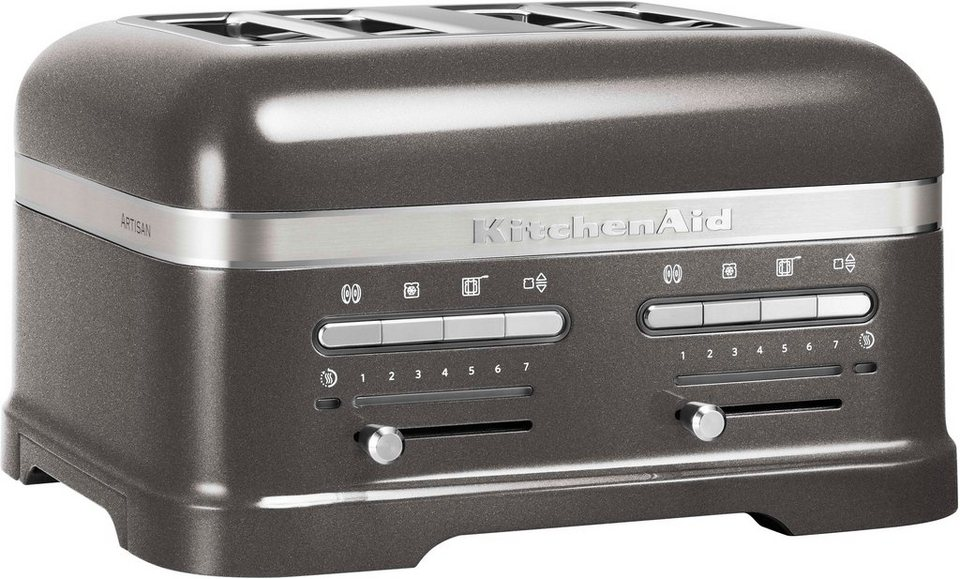 kitchenaid toaster 5kmt4205ems f r 4 scheiben 2500 w. Black Bedroom Furniture Sets. Home Design Ideas