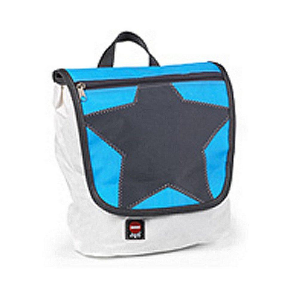 KLEIN UND MORE Klein und More 360Grad Kinderrucksack, Klappe blau, Stern grau in Blaue Klappe, schwar