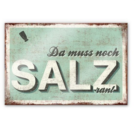 Wall-Art Küchenrückwand »Spruch Da muss noch Salz ran«, (1-tlg)