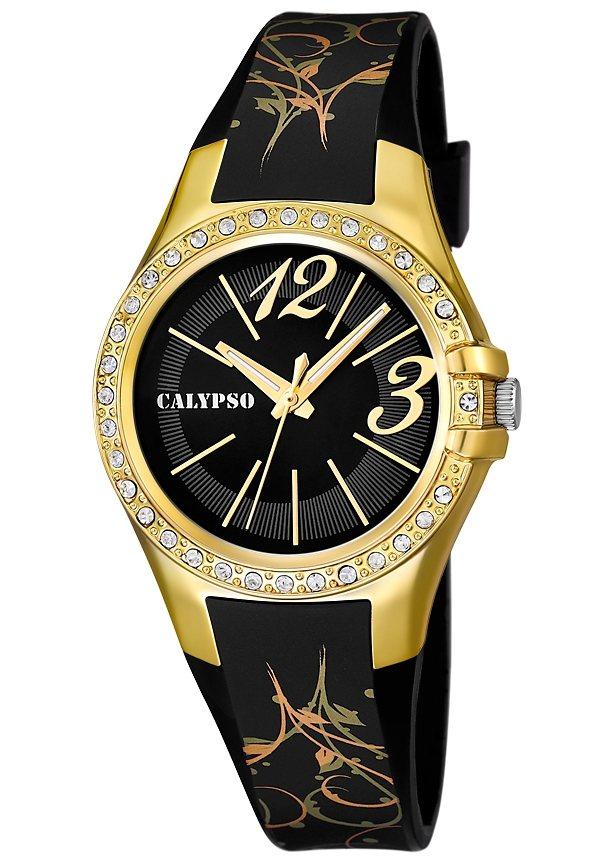 "CALYPSO WATCHES, Armbanduhr, ""K5624/4"" in schwarz-goldfarben"