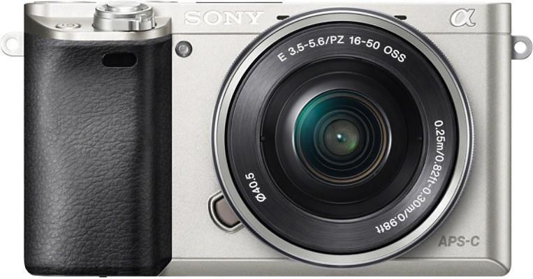 Sony Alpha ILCE-6000L System Kamera, 16-50 Zoom, 24,3 Megapixel, 7,5 cm (3 Zoll) Display in silberfarben