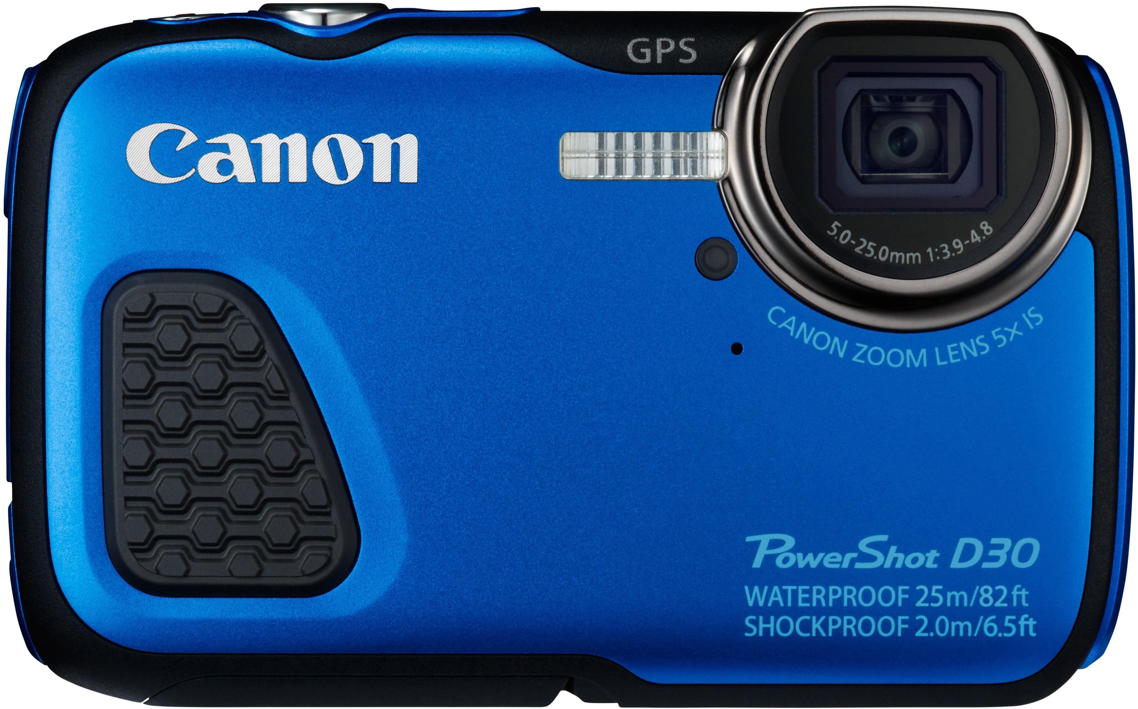 Canon PowerShot D30 Outdoor Kamera, 12,1 Megapixel, 5x opt. Zoom, 7,5 cm (3 Zoll) Display