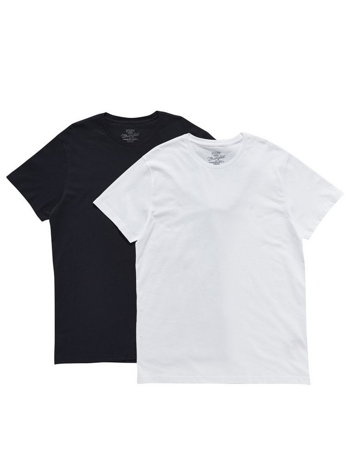 Wrangler T-Shirt »2 PACK T NAVY« in NAVY
