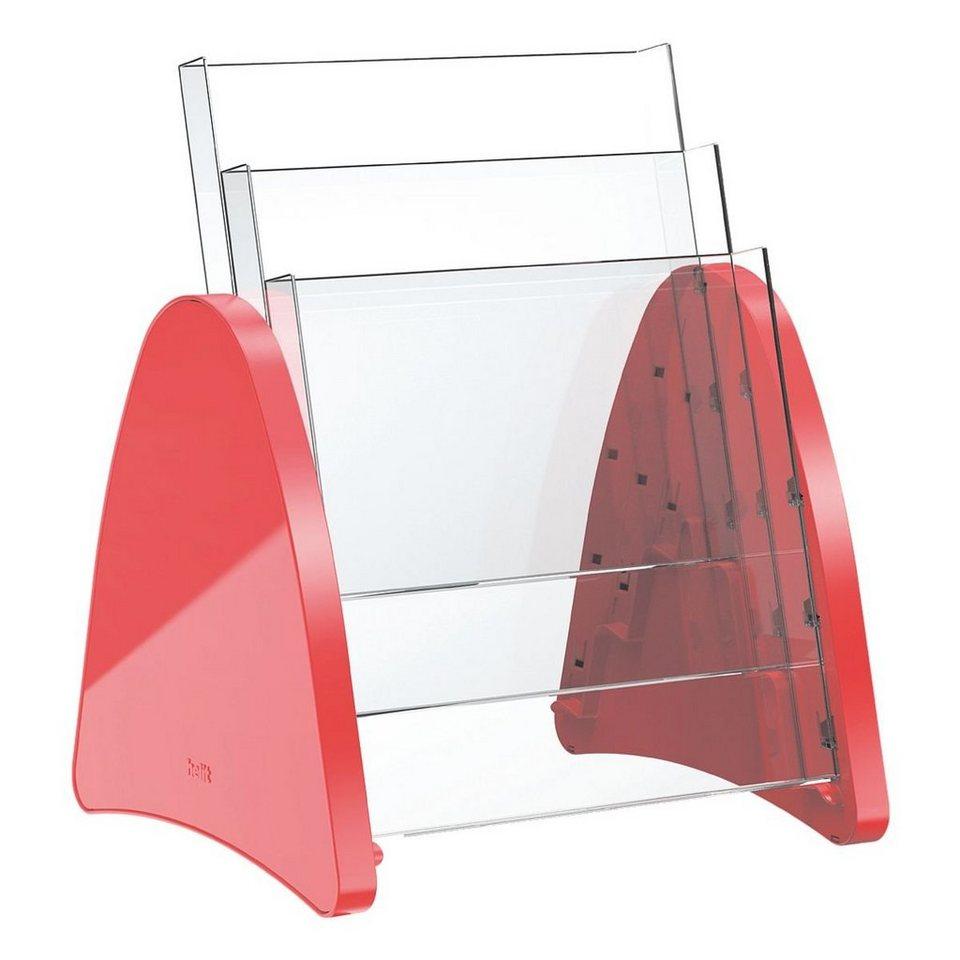 Helit Tischprospekthalter »Parabel« in rot