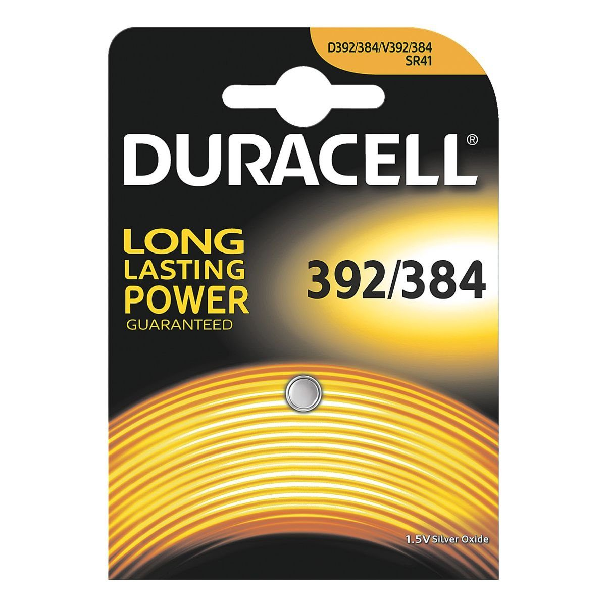 Duracell Knopfzelle SR41 / Typ 392 & 384