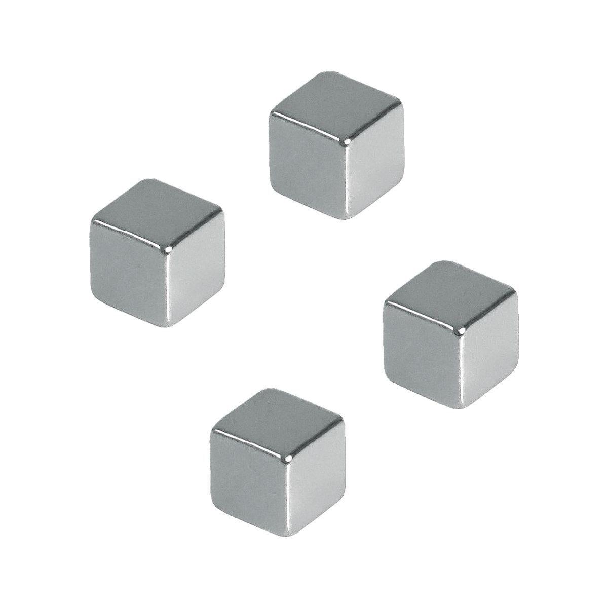 FRANKEN 4er-Pack Magnetwürfel, Haftkraft 3 kg »HMN1010«