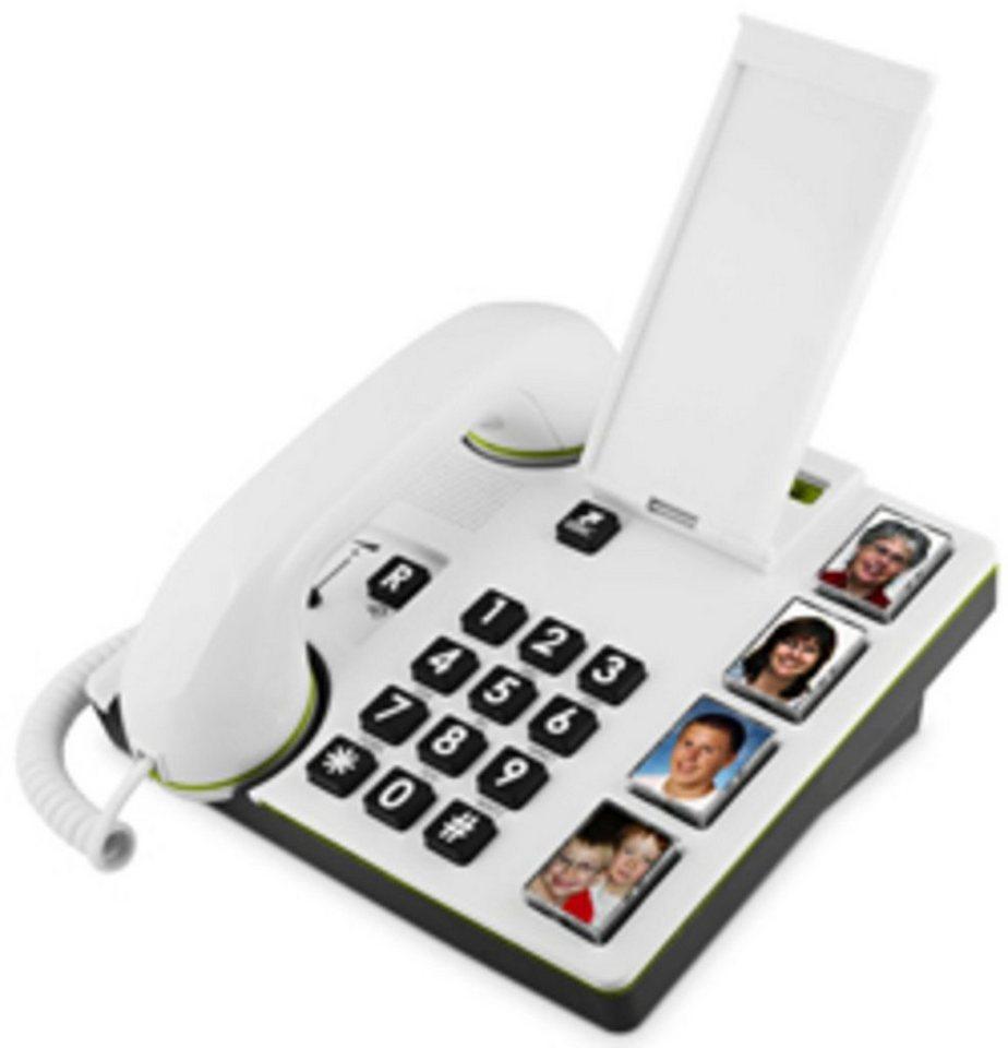 Doro Telefon analog schnurgebunden »MemoryPlus 319i ph, Weiß« in Weiß