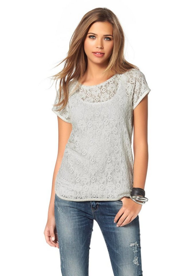 Vero Moda T-Shirt »Bite Me« in offwhite