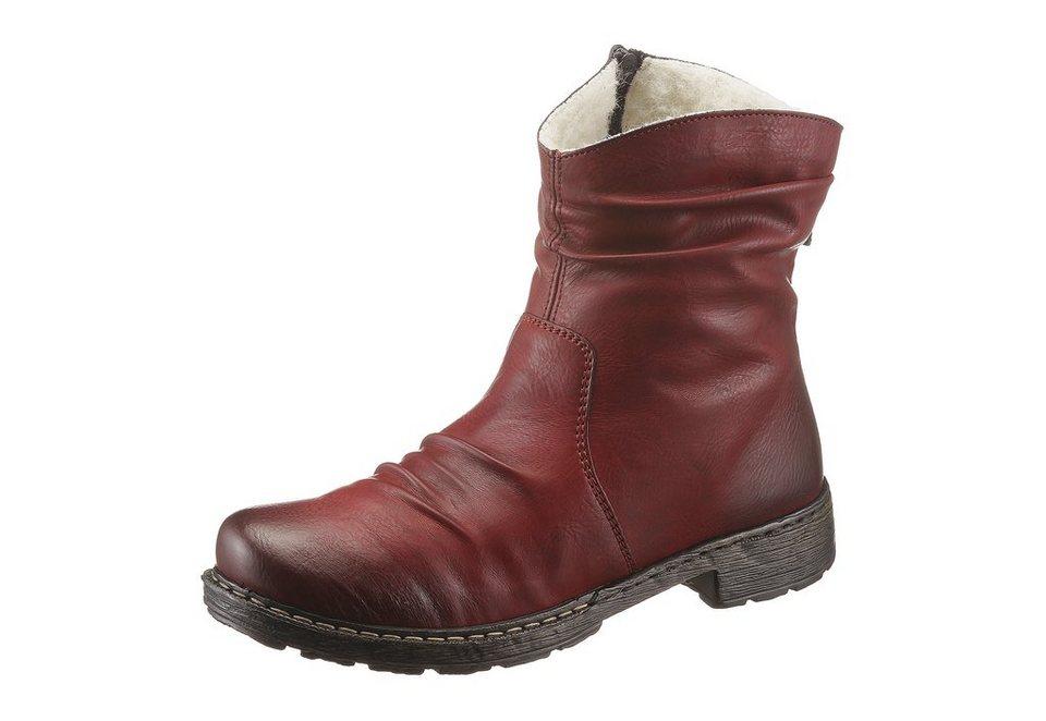 Boots, Rieker in weinrot