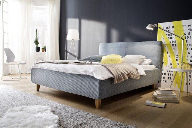 KAWOLA Polsterbett »FATE«  Cordstoff hellblau versch. Farben   Schlafzimmer > Betten > Polsterbetten   KAWOLA