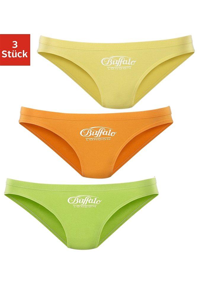 Buffalo London Hipster-Bikinislip (3 Stück) in grün+orange+gelb