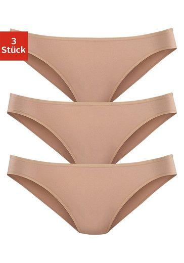 LASCANA Bikinislip (3 Stück)aus hochwertiger Modal-Qualität