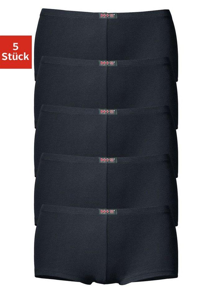 H.I.S sportliche Panties (5 Stück), »Cotton made in Africa« in schwarz
