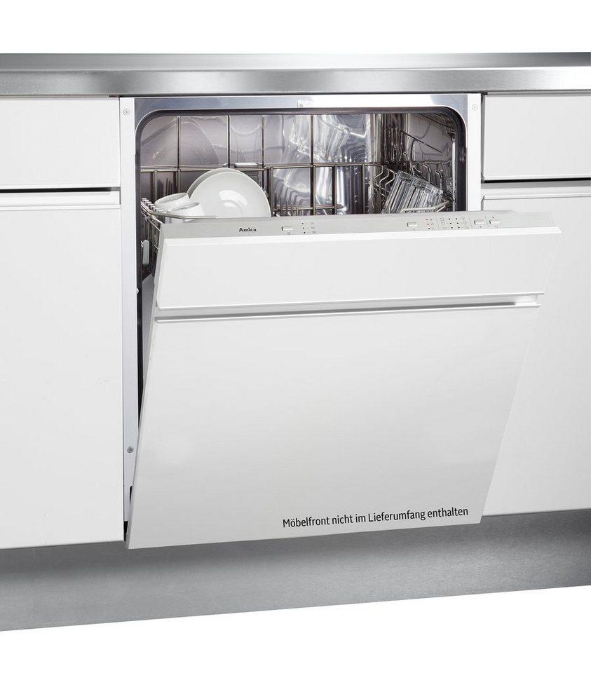 Amica vollintegrierbarer Geschirrspüler EGSP 14363 V, 12 Liter, 12 Maßgedecke in weiß