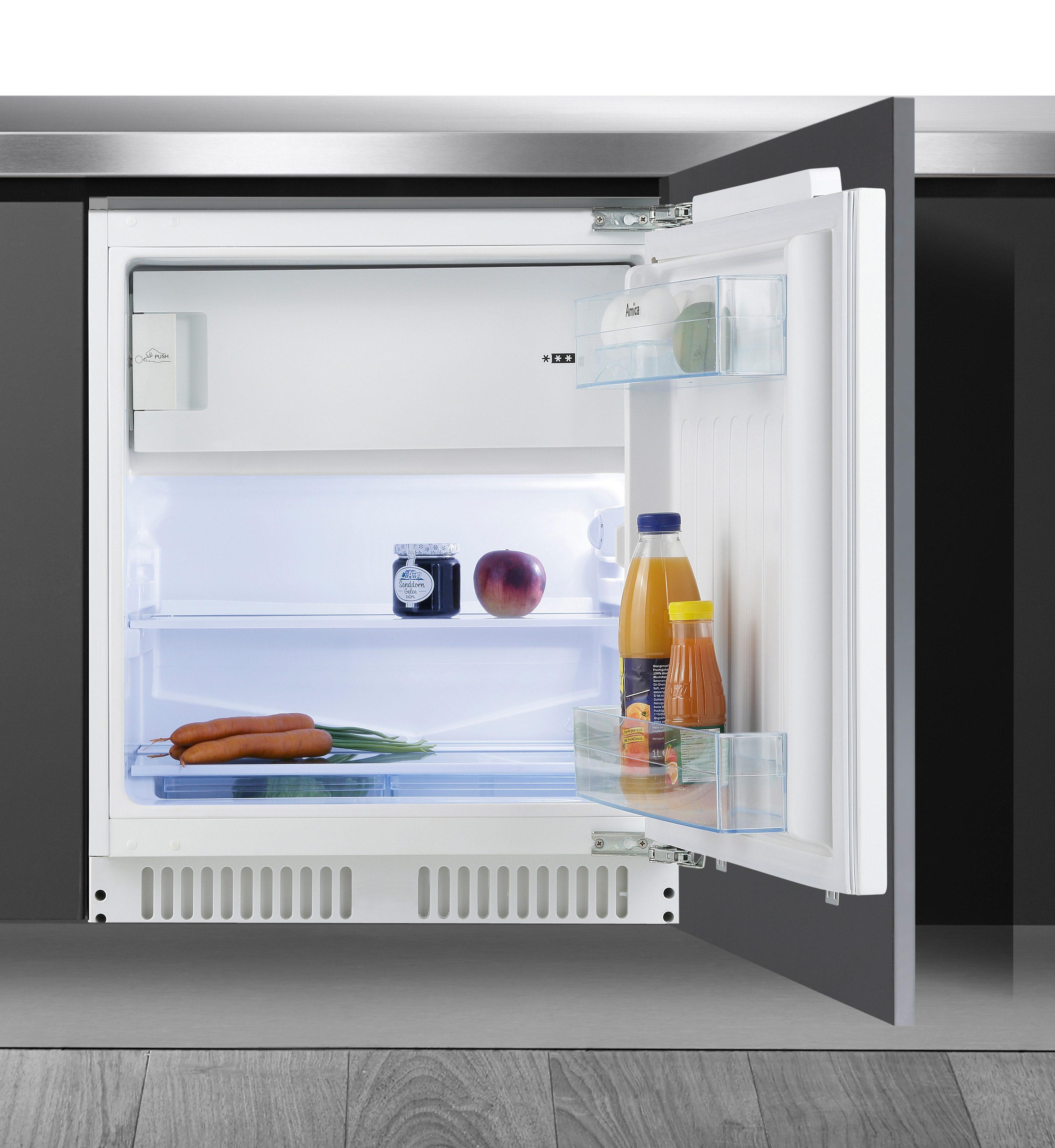 Amica Einbaukühlschrank UKS 16158, A++, Höhe max. 87 cm