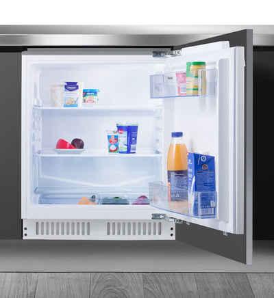 Amica Einbaukühlschrank UVKS 16149, 81,0 cm hoch, 59,6 cm breit, Sicherheitsglas