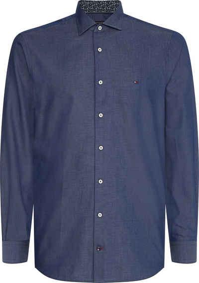 Tommy Hilfiger Langarmhemd »SOLID WASHED SLIM SHIRT«
