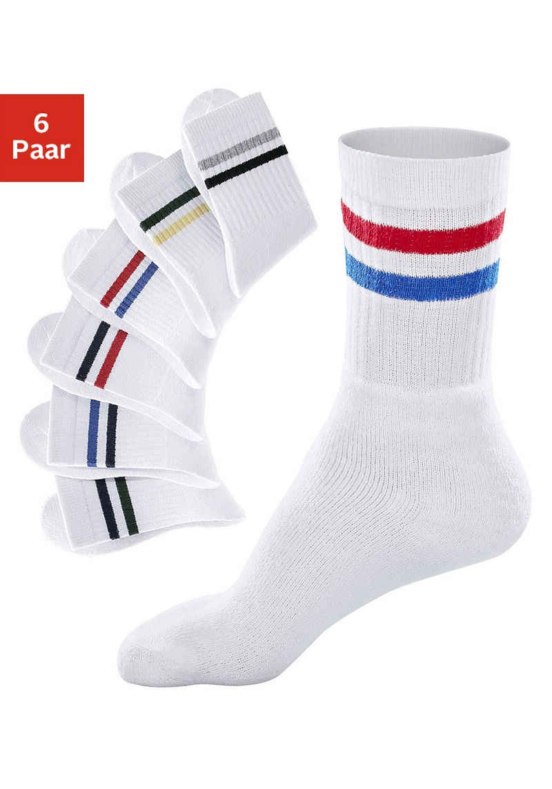 Go in Freizeitsocken (6-Paar) mit farbigen Streifen