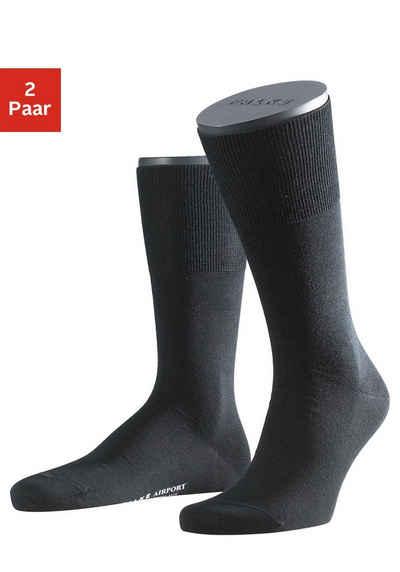 FALKE Socken »Airport« (2-Paar) mit wärmender Schurwolle