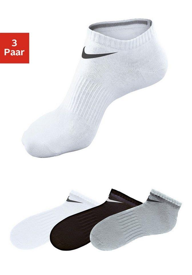 Nike Sportfüßlinge (3 Paar) Rutschfest mit Mittelfußgummi in grau + schwarz + weiß