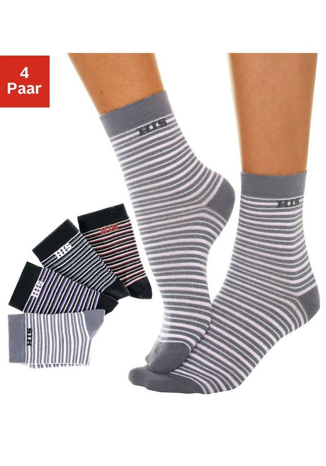 h i s basic socken 4 paar mit eingestricktem markenlogo online kaufen otto. Black Bedroom Furniture Sets. Home Design Ideas