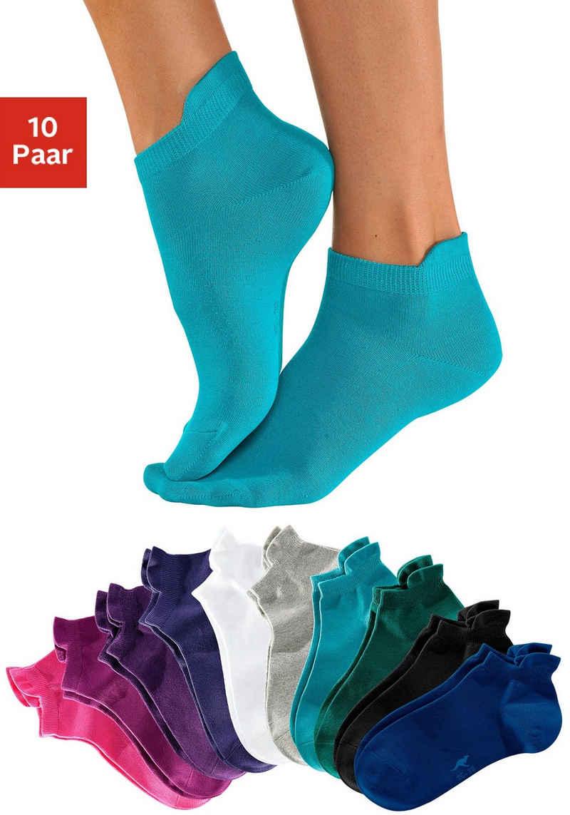 KangaROOS Sneakersocken (10-Paar) mit erhöhtem Bündchen