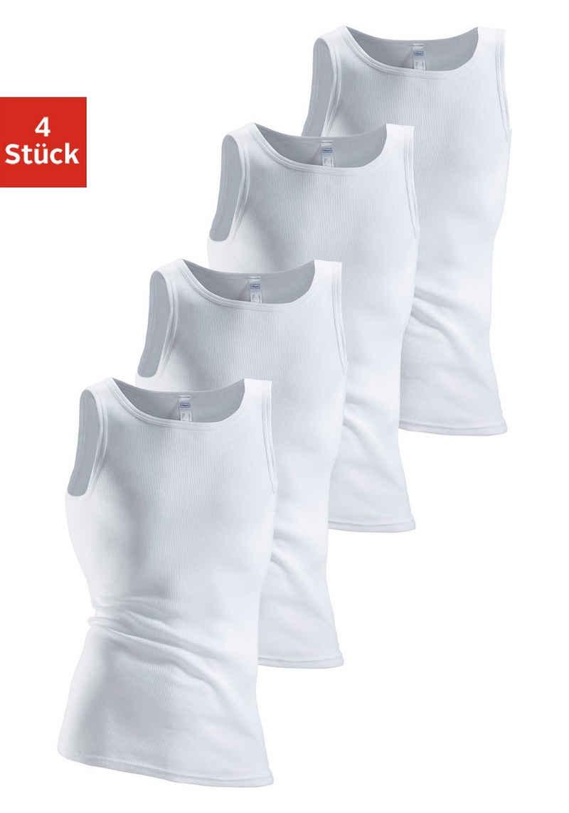 Clipper Unterhemd (4 Stück), aus Doppelripp