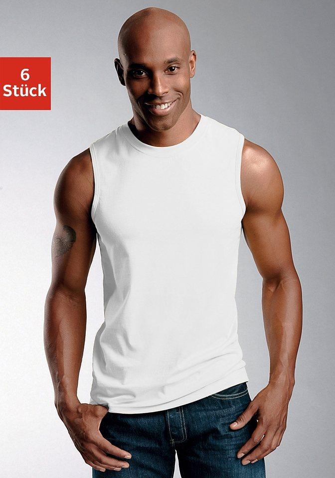 Muscleshirt (6 Stück) in 6x weiß