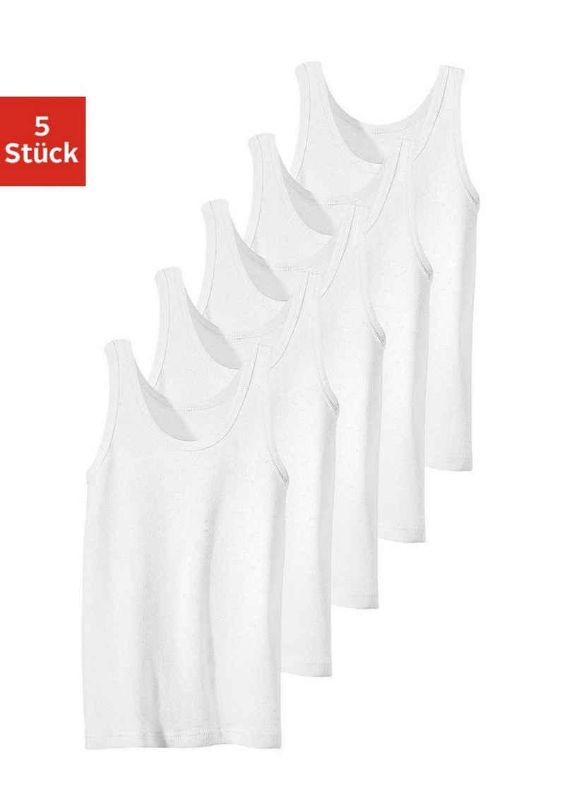 Unterhemd (5 Stück), Feinripp-Qualität, reine Baumwolle