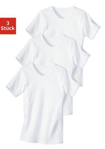 Unterhemd (3 Stück), Feinripp-Qualität, reine Baumwolle
