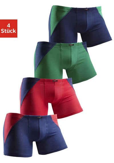 H.I.S Boxer (4 Stück) mit coolem Colorblocking für einen sportlichen Auftritt