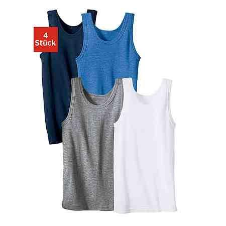Unterhemd (4 Stück), schlichter Basic aus Feinripp
