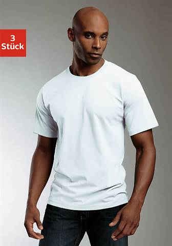 H.I.S T-Shirt (3er-Pack) aus Baumwolle