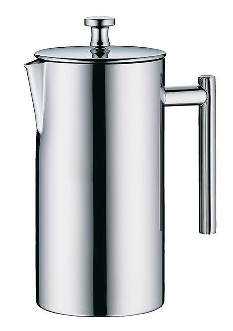 Kaffeezubereiter Edelstahl poliert mit integriertem Edelstahl-Feinsieb, Alfi in silberfarben