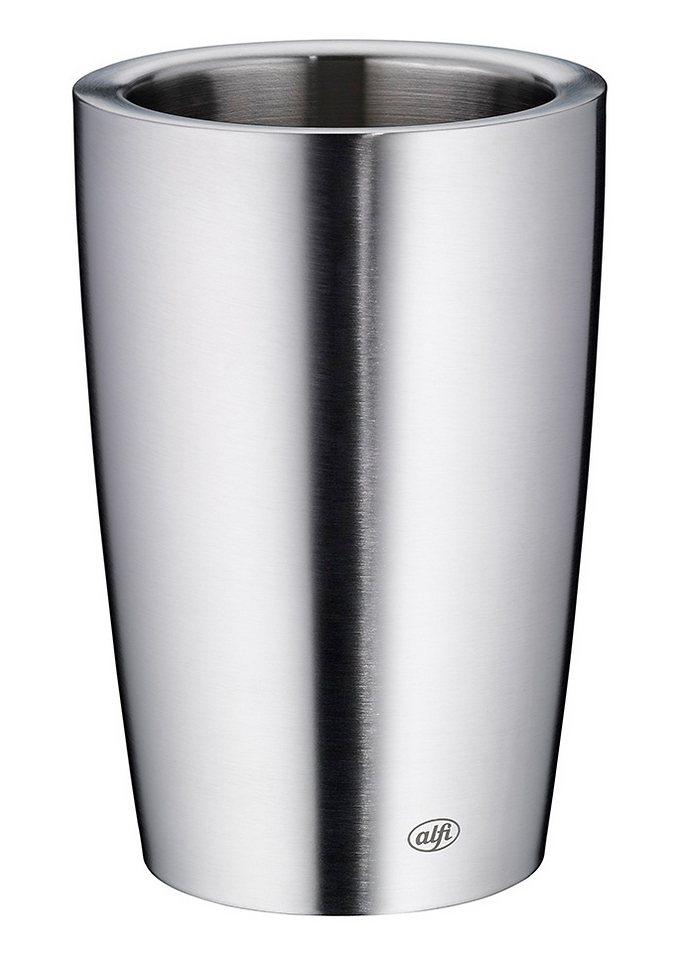 Flaschenkühler, Edelstahl, »Secco«, Alfi in silberfarben