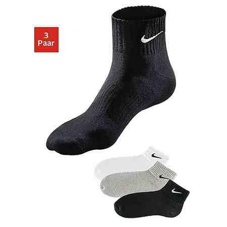 Nike Klassische Sportkurzsocken (3 Paar) mit Frottee