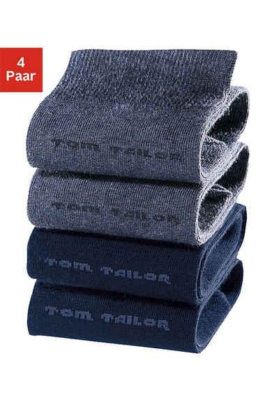 TOM TAILOR Socken (4-Paar) mit druckfreiem Bündchen