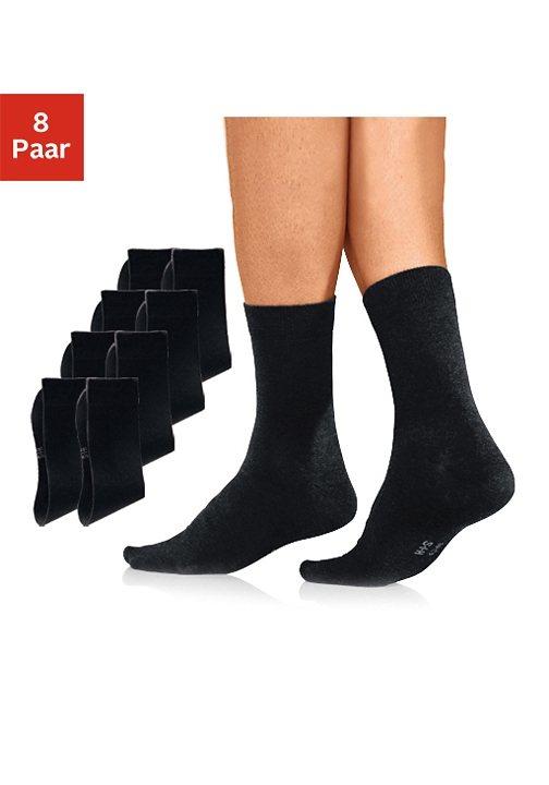 H.I.S Basic-Socken (8 Paar) mit hohem Baumwollanteil in 8x schwarz