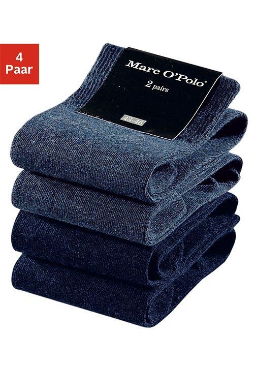 Marc O'Polo Business- und Freizeitsocken (4 Paar) in 2x marine+2x jeans meliert