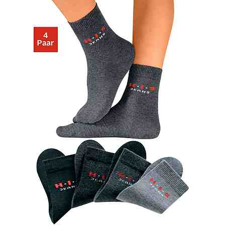 H.I.S Basic-Socken (4 Paar) Made in Germany